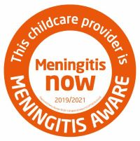 This Childcare Provider is Meningitis Aware 2019-2021 Logo200x200
